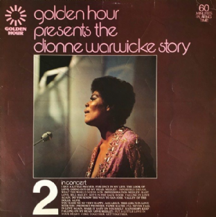 Dionne Warwick ‎- Golden Hour Presents The Dionne Warwick Story Part 2: In Concert (LP) (EX-/G++)